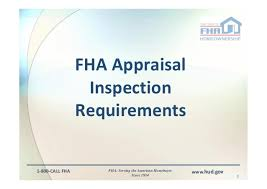 Hud Reo Appraisal Mortgagee Letter fha appraisal and inspection issues