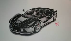car ferrari drawing ferrari laferrari black alessandro libertini draw to drive
