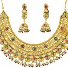 simple bridal gold necklace designs catalogue ksvhs jewellery