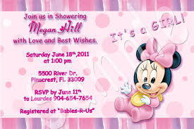 free minnie mouse baby shower invitations party xyz