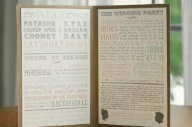 Wedding Program Board Paper Crowns Wedding
