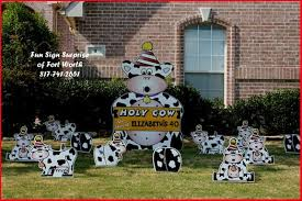 Birthday Lawn Decorations Holy Cow Lawn Signs The Best Cow 2017