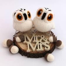 owl wedding cake topper mini owl wedding cake topper by feltmeupdesigns
