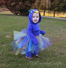 Child Peacock Halloween Costume Diy Fleece Peacock Tutu Costume Pa Country Crafts