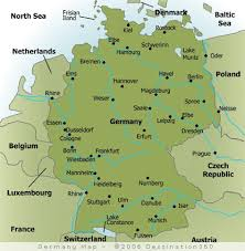 map germay map of major cities in germany germany city