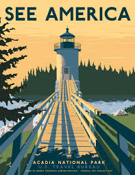 travel posters images Us travel posters by steven thomas for print collection design milk jpg