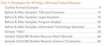Sample Ses Resume by Federal Resume Guidebook
