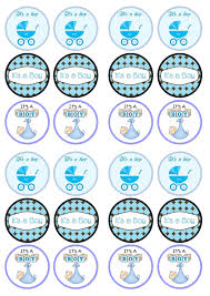 baby boy shower cupcake toppers home decorating interior design