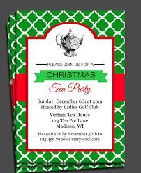 christmas tea party christmas tea party invitation printable by thatpartychick 15 00