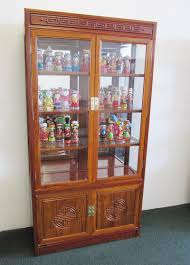 Lighted Display Cabinet Rosewood Curio Display Cabinet Tags 53 Astounding Rosewood Curio