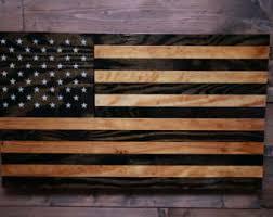 american flag veteran made wood flag