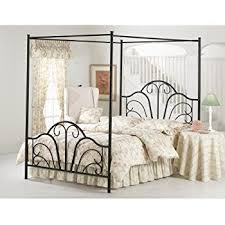 Amazoncom Hillsdale Furniture BQP Dover Bed Set With Canopy - Black canopy bedroom sets queen