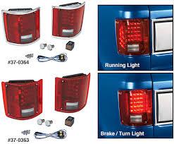 led brake lights for trucks led tail light set 1973 91 chevy blazer suburban 1973 91 gmc