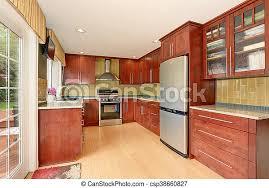 light brown kitchen cabinets modern kitchen room interior with modern brown cabinets and light tones hardwood floor