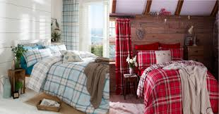 blue tartan plaid bedding home beds decoration