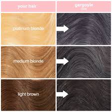 light brown hair dye for dark hair gargoyle dark grey vegan semi permanent hair dye lime