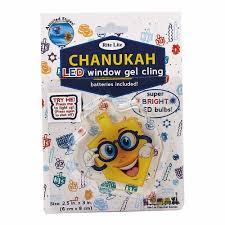 dreidel lights chanukah gifts led gel dreidel window cling