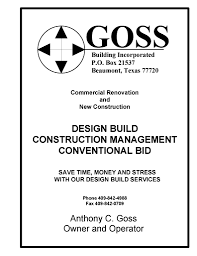 Building Contractor Resume Beaumont Design Build Contractor Tony Goss U0026 Goss Building