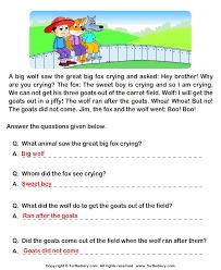 simple reading comprehension worksheets 1st grade deployday