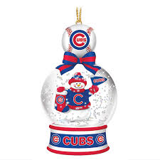 chicago cubs snow globe ornaments the danbury mint