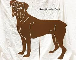 boxer dog wall art boxer metal art etsy
