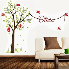 Tree Wall Decor For Nursery Tree Wall Stickers With Name Decal Garden Tree Nursery
