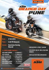 Organize Day Ktm To Organize Orange Day In Pune On 27th February 2016