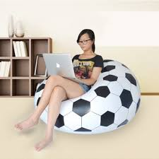Leather Bean Bag Chairs For Adults Compare Prices On Football Inflatable Chair Online Shopping Buy