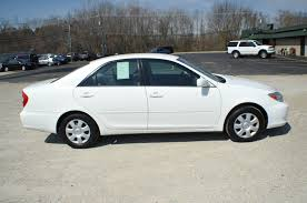 2002 toyota camry le white sedan used car sale