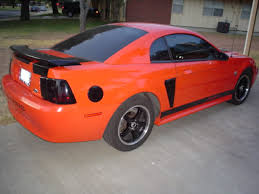 Black And Orange Mustang 40th Anniv How Many Competition Orange Mustangs Were Made