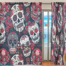 window curtains my sugar skulls