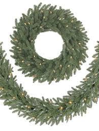 Cheap Christmas Decorations Online Australia bh fraser fir wreath and garland balsam hill australia