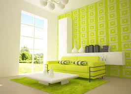 white and lime green wall plus rectangle pattern and glass window