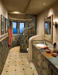 Slate Tile Bathroom Shower Magnificent Slate Tile Bathroom Shower Pictures Inspiration The