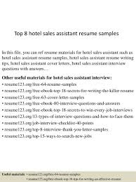 hotel sales assistant cover letter