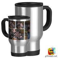travel mugs images Personalized photo silver travel mug giftsmate jpeg