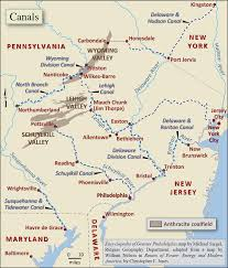 Pennsylvania Map Cities by Canals Encyclopedia Of Greater Philadelphia