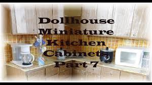 dollhouse miniature kitchen cabinets part 7 youtube