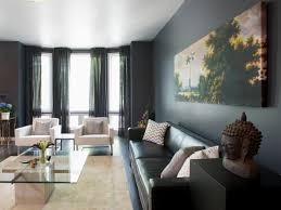 black and gray living room add drama to your home with dark moody colors hgtv s decorating
