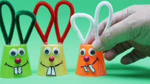 how to make a funny bunny from plastic cup easter diy crafts for