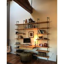 Industrial Shelving Units by Hand Crafted Custom Industrial Shelving Unit W Galvanized Pipe By