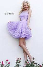 light purple short dress 2015 sherri hill 11091 light purple layered a line short lace