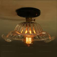 kitchen ceiling lights with glass shade country style