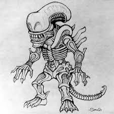 cartoon alien sketch by sweav on deviantart