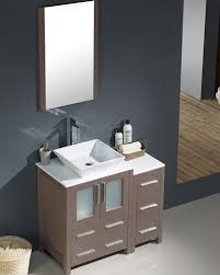 Bathroom Vanity With Side Cabinet Fresca Torino 36 Gray Oak Modern Bathroom Vanity W Side Cabinet