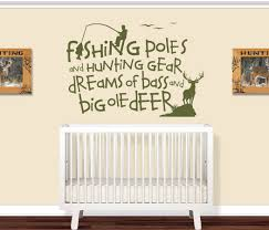 Kids Room Decals by Fishing Poles And Hunting Gear Kids Room Decal Wall Decals