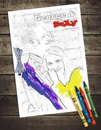 pic bride groom coloring book style crayons kids