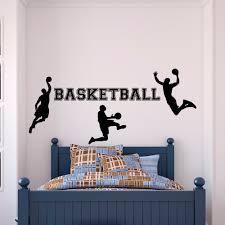 popular basketball vinyl stickers buy cheap basketball vinyl dsu basketball wall decal sports wall vinyl stickers basketball player decal kids boy room wall art