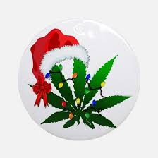 marijuana christmas ornament cafepress