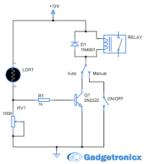 Solar Street Light Circuit Diagram by Parking Lights Circuit Diagram Schematic Or Electronic Design